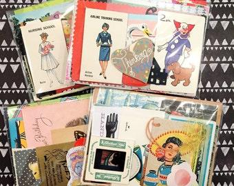 Paper Packs - ephemera, junk journals, collage and smashbook supplies!