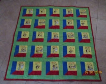 Baby Quilt in primary colors