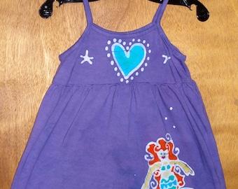 Girls Handmade Batik Tank Mermaid Dress