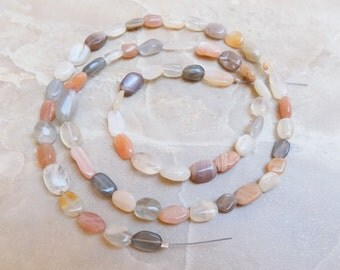 Moonstone strand of petite oval beads