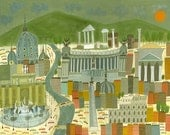 Rome.  Limited edition print by Matte Stephens.