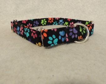 """Large Dog Martingale Collar 1"""" Wide 18-25"""" Paws"""