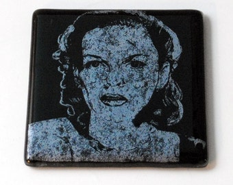 Judy Garland Fused Glass Coaster