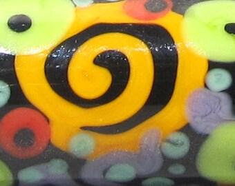 Funfetti Barrel--Handmade Lampwork Bead