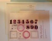 DESTASH Advent calendar •my acrylix stamps• Close to my heart c1528