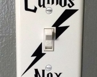 Harry Potter inspired light switch cover - Lumos Nox light switch cover