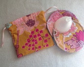 Ginger Bliss Menstrual Cup Pouch / Bag and Two Cup Spots