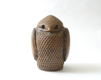 Modernist Ceramic Owl  Studio Pottery California Modern Mid Century 1960s