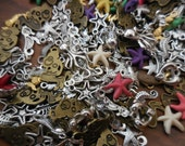 25/50 c Grab Bag Mermaid starfish seahorse Sea Life Nautical mixed BULK CHARMS Assemblage Art Repurpose Jewelry Supplies