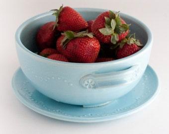 READY TO SHIP - Berry Bowl - Aqua