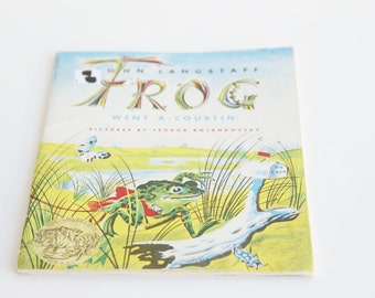 Frog Went A-Courtin' by John Langstaf, Vintage Picture Book, Feodor Rojankovsky ~ The Pink Room ~ 170222