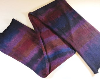 SALE 20% Off -- Hand Painted Sock Blank (Superwash Merino/Nylon 4-ply Sock Fingering Yarn) -- The Happy Wanderer -- Purple