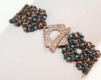 Bronze Beauty Beadwoven Bracelet
