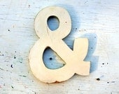 Cream Ampersand, Wedding Sign, Distressed Wall Decor, And Sign, You and I Sign, Geek Decor, Rustic Wall Decor, Wedding Symbol