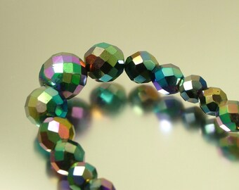 Vintage/ estate 1950s kitsch, retro, purple carnival glass bead costume necklace  - bargain sale