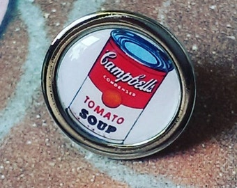 Campbell's Tomato Soup Pop Art Pin