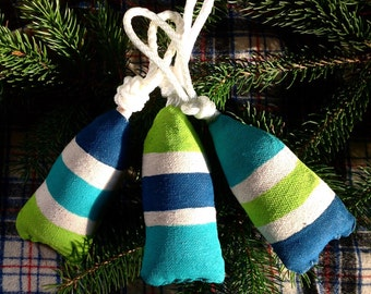 Set of 3. Maine lobster buoy christmas ornament. Nautical tree ornament. Buoy christmas decoration. gift under 40.Nautical christmas.