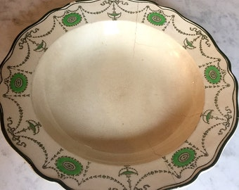 Beautiful vintage Royal Doulton pasta soup bowl plate in the green colourway