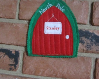 North Pole Door - Elf door - Elf Name Personalized
