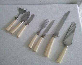 Vintage Regent Sheffield Flatware Serving Knife Set