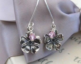 Sterling Silver Cherry Blossom