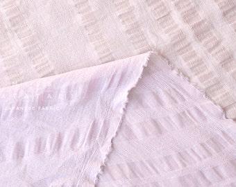 Japanese Fabric Kokka Tsumiki Wavy Stripes - textured enshuku cotton - mauve - 50cm