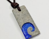Surfer necklace Father's Day gift Concrete Necklace by zulasurfing