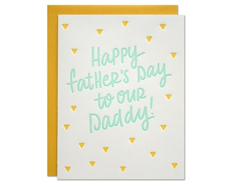 Daddy Letterpress Card