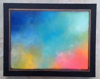 Untitled Bold Colored Abstract Original Painting 16x20