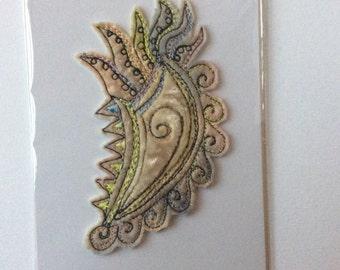 Fantasy Seashell embroidery