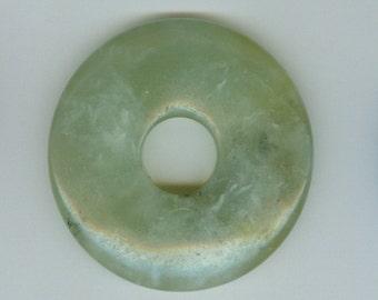 50mm Green Aventurine PI Donut Pendant Bead 607B