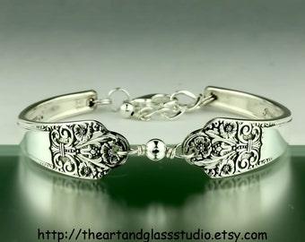 Silver Spoon Bracelet PRECIOUS Jewelry Vintage, Silverware, Gift, Anniversary, Wedding, Birthday
