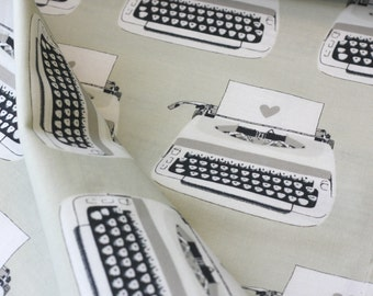 Melody Miller for Cotton + Steel FABRIC - Black & White - Typewriters
