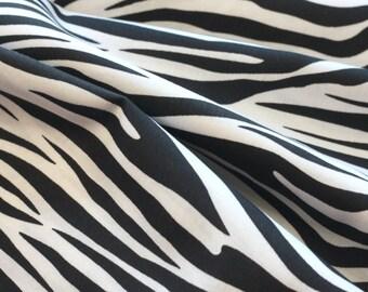 20% Off! Robert Kaufman FABRIC - Metro Living - Zebra - Black White