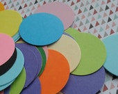 100 1 1/2 inch Circle Die Cut Card Stock Variety of Colors 1.5 Inch Round Paper Punches in a Vivid Mix of Colors