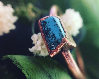 Turquoise Chip Ring Size 7.25