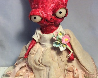 Ms. Valentine ooak art doll