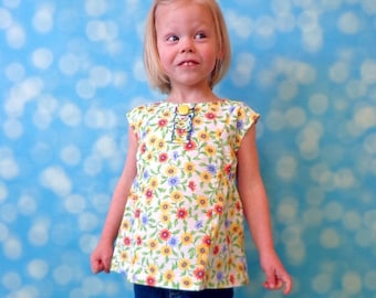 30% OFF Top PDF Pattern - A Line Top Pdf Sewing Pattern for Baby and Girls - 12 months to 10 years