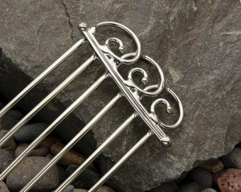 Metal hair fork or hair comb