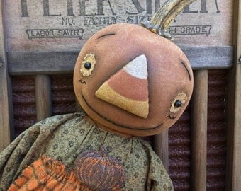 Primitive Cornelia Fall Pumpkin doll Epattern
