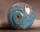 Artisan Glass Focal Bead Turquoise Blues Divine Spark Designs SRA