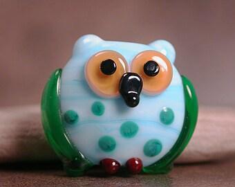 Lampwork Glass Owl Bead Petite Divine Spark Designs SRA