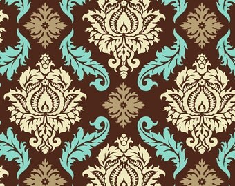 CLEARANCE 2 Yards Joel Dewberry Aviary 2 Damask in Bark Fabric