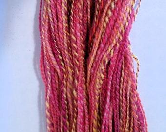 SALE! Sweet Peas, handspun wool yarn, 54 g/174 yds