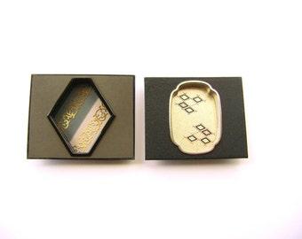 Vintage Japanese Door Pulls - Metal Door Pulls - Vintage Door Pulls - Pocket Door Pulls - Sliding Door Pulls - Gold  Black  Gray Silver  B12