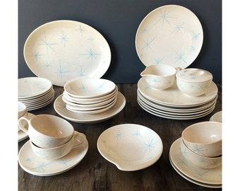 Royal China - Celeste Dinnerware - 35 Pieces - Made in USA
