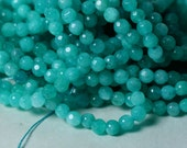 Candy jade faceted round 4mm lake blue 15-inch strand (item ID CJ4mRLB1)