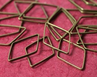 Antique brass diamond link size 22x14mm, 18 pcs (item ID H735AB)