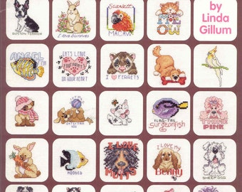 99 Cross Stitch Luvable Pets ~  Cross Stitch Book