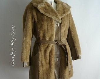 Faux mink coat   Etsy